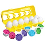 Kidzlane Count & Match Educational Egg Toy – Teach Colors, Numbers & Fine Motor Skills - 12 Sturdy Eggs in Plastic Carton – 100% Toddler & Child Safe 18M+