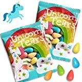 Unicorn Tears Candy Party Favors for Kids - 24 Unicorn Party Supplies - Sour Treats for Birthday Goodie Bags - Bulk Classroom