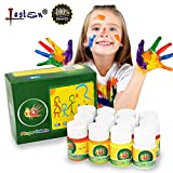 Lasten 12 Colors Finger Paint Set for Toddlers,Non Toxic & Washable Kid's Art Painting Supplies 12X30ML