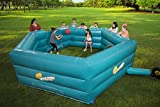 SCS Direct Gaga Ball Pit Inflatable 15' Gagaball Court w Electric Air Pump - Inflates in Under 3 Minutes