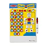 Melissa & Doug Flip-to-Win Hangman Travel Game (Wooden Word Game, Great Gift for Girls and Boys - Best for 6, 7, 8, and 9 Year Olds)