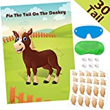 Hokic Pin The Tail On The Donkey Party Game for Kids Birthday Decorations Carnival Party Supplies, Game Collection