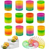 Rainbow Magic Spring, 12 PCS Colorful Rainbow Neon Plastic Spring Toy