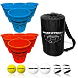 Bucket Ball - Beach Edition Combo Pack - Ultimate Beach, Poolside, Backyard, Camping, Tailgate, Outdoor Game - Includes 12 BucketBall Buckets, 6 Game Balls, Tote Bag, Instructions
