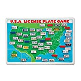 Melissa & Doug U.S.A. License Plate Game (Wooden 'Flip to Win' Travel Game, Two Players, Great Gift for Girls and Boys - Best for 5, 6, and 7 Year Olds)