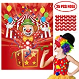 Happy Storm Carnival Games Pin the Nose on the Clown Party Games Carnival Party Supplies Favors Circus Theme Birthday Party Decorations for Kids