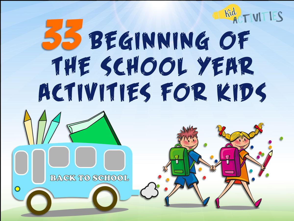 beginning of the school year activities