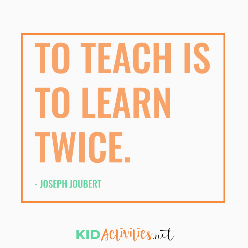 Inspirational Quotes for Teachers (To teach is to learn twice.  -  Joseph Joubert)