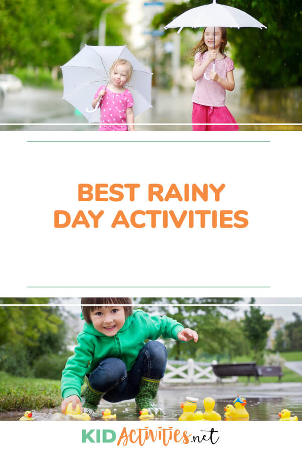 A collection of the best rainy day games and activities for kids.
