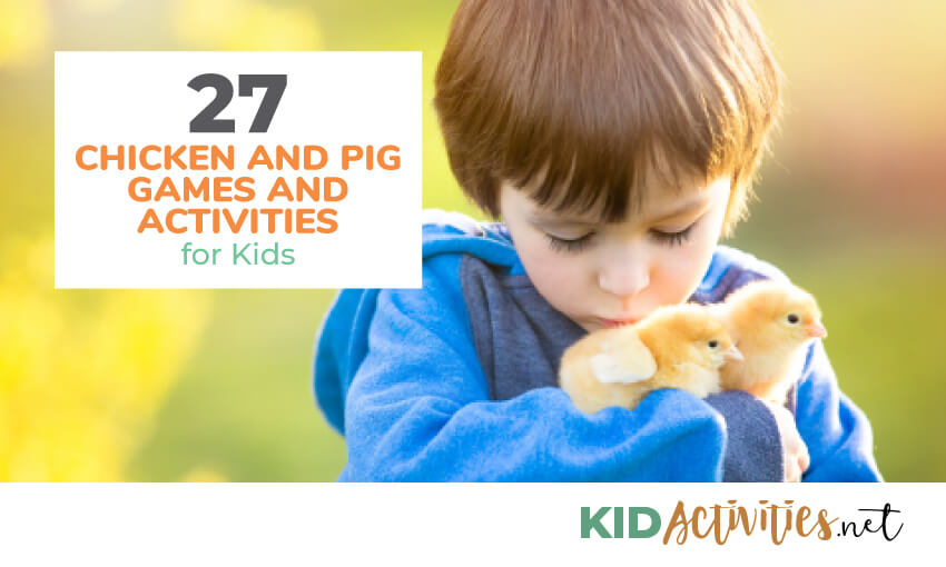A collection of chicken and pig activities for kids.
