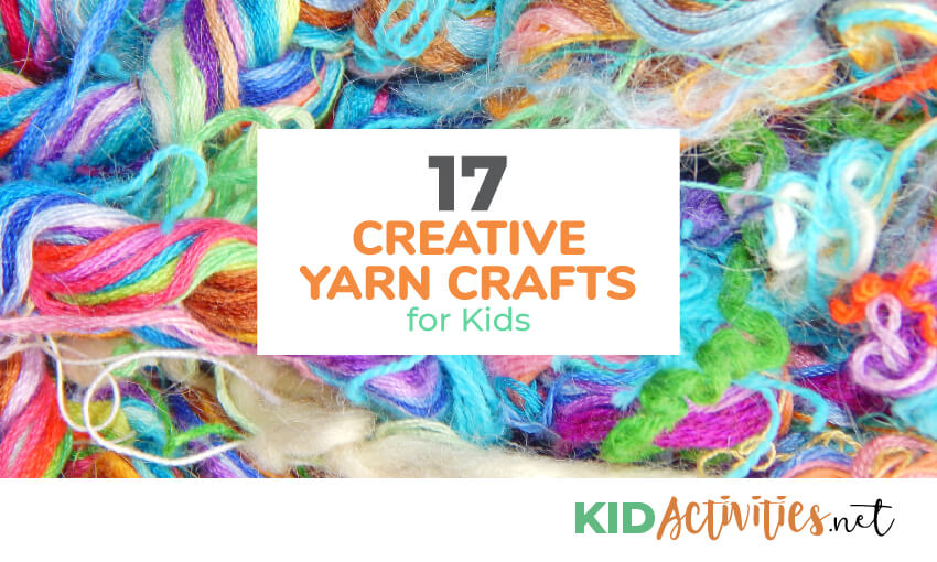 A collection of creative yarn crafts for kids.