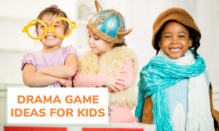 A collection of drama game ideas for kids.
