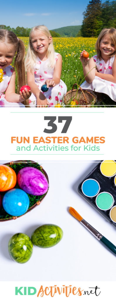A collection of fun Easter activities for kids. These Easter ideas are great for the classroom or Easter events for children.
