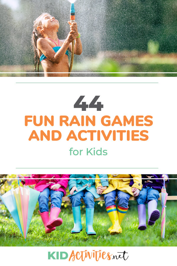 一系列有趣的雨亲子游戏和亲子亲子游戏。无论在家里还是在学校时,都非常适合下雨天。