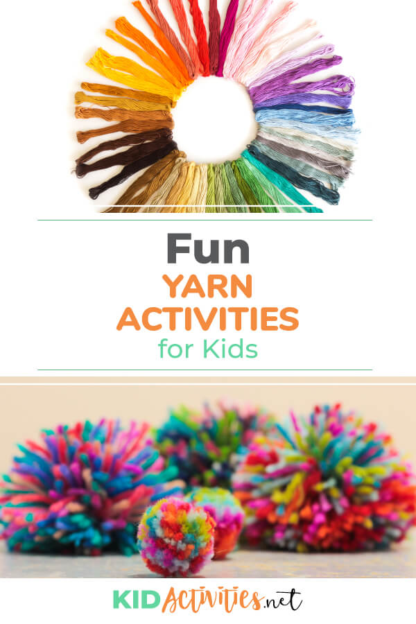 A collection of fun yarn activities for kids. Great for arts and crafts class.