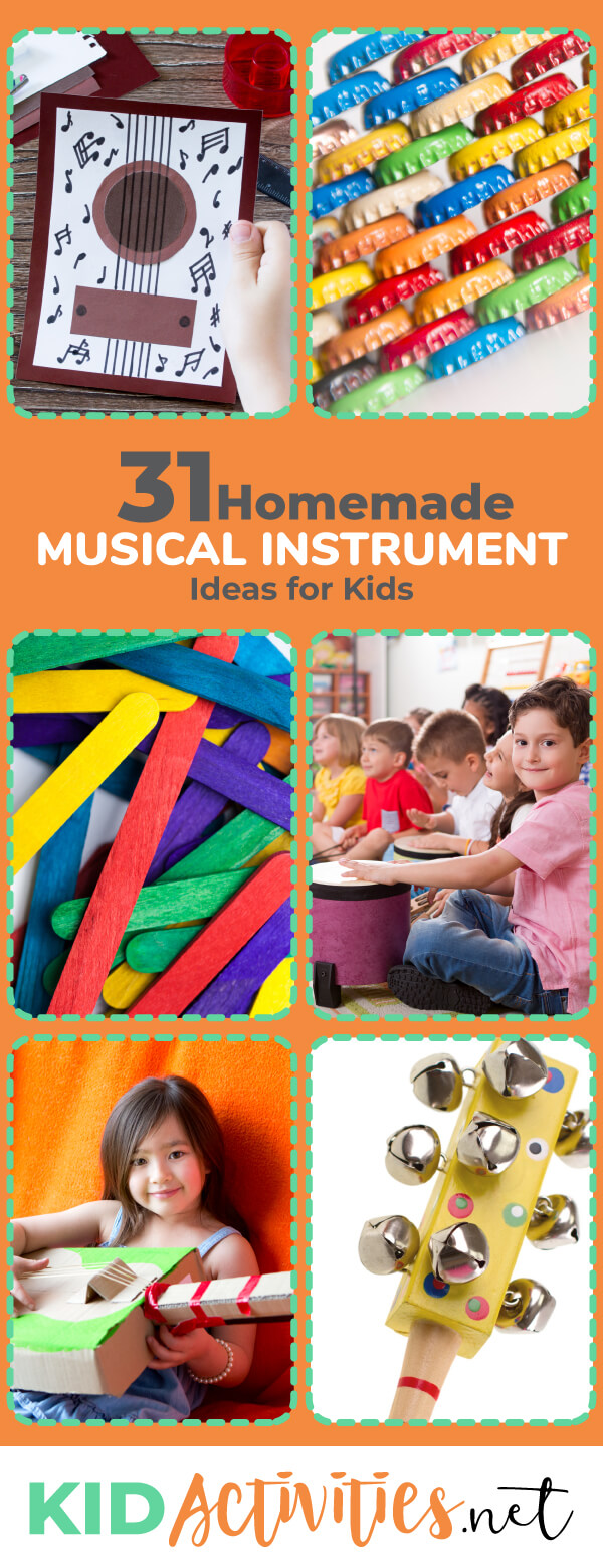 31 Homemade Instruments For Kids to