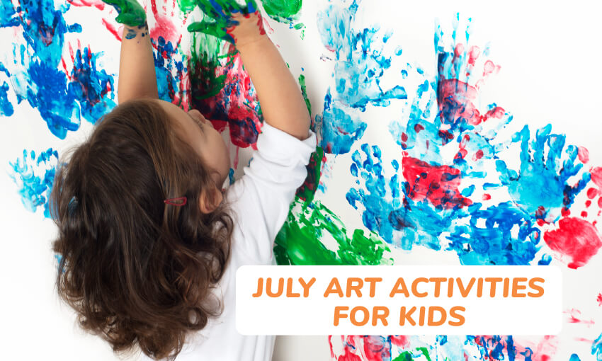 A collection of July art activities for kids.