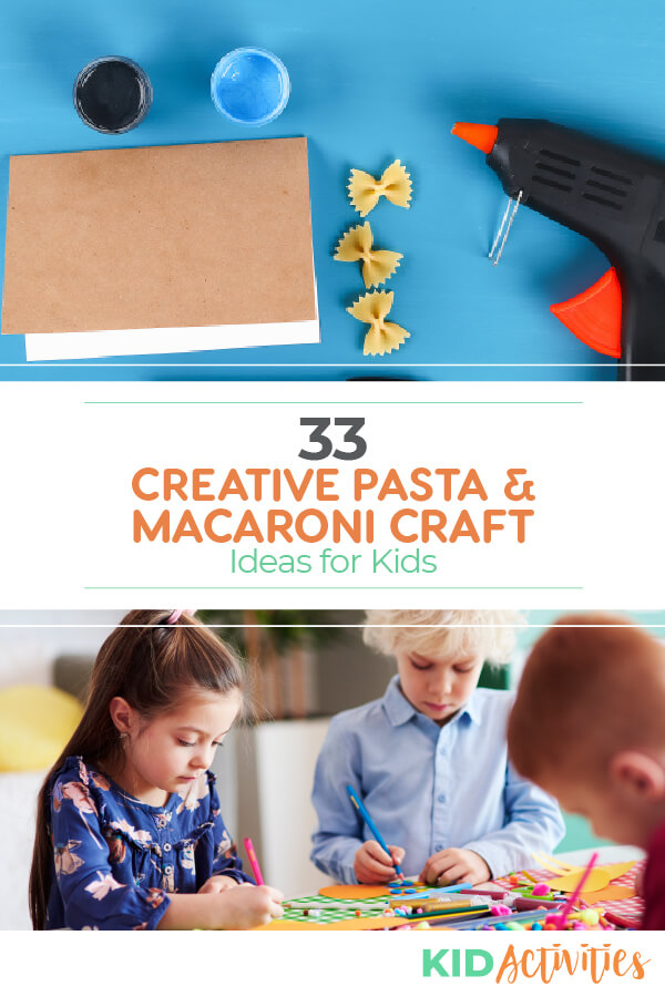 A collection of pasta and macaroni craft ideas for kids.