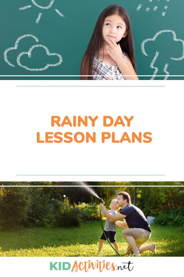 雨天课程计划思想的集合。教孩子们降雨和天气的好方法。