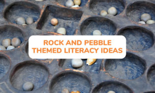 A collection of rock and pebble themed literacy ideas for kids. Great for teaching geology to elementary students.