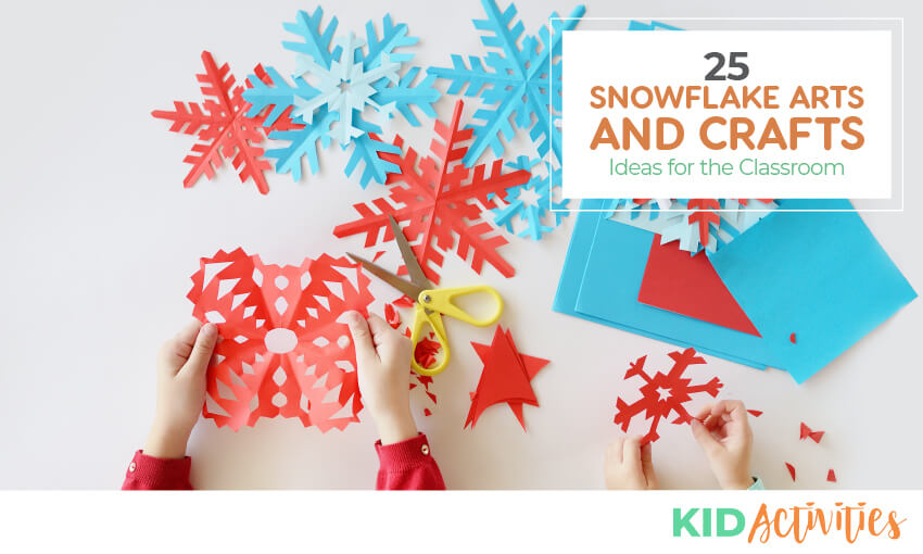 A collection of snowflake arts and crafts ideas