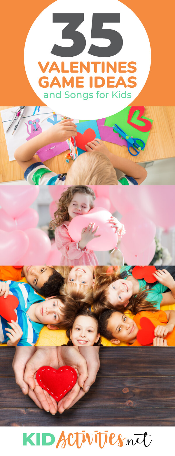 A collection of Valentines day activities for kids including Valentines day games and Valentines day song ideas. Keep the kids having fun this Valentines day.