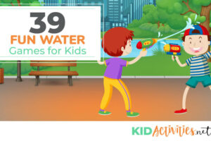A collection of water games for kids including balloon games, sponge toss, and water relay ideas. Great for the hot summer days.