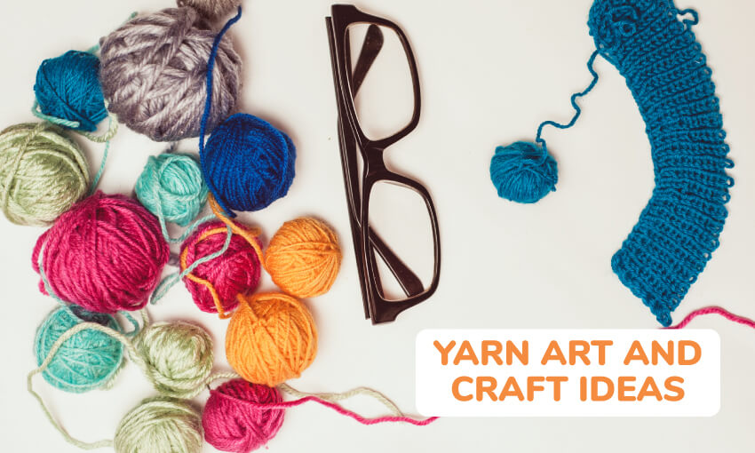 A collection of yarn art and craft ideas for kids.