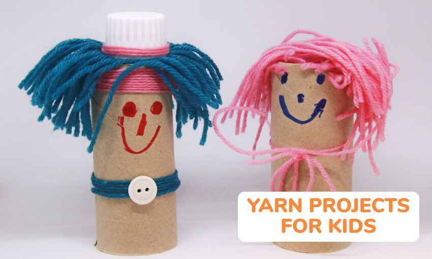 A collection of yarn projects for kids.