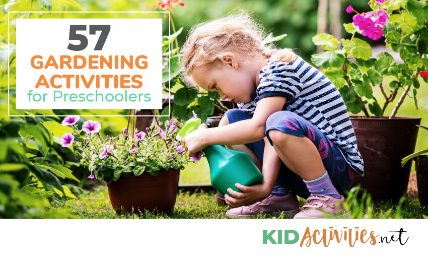 A collection of gardening activities for preschoolers.