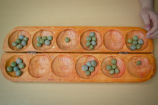 A picture of the game mancala