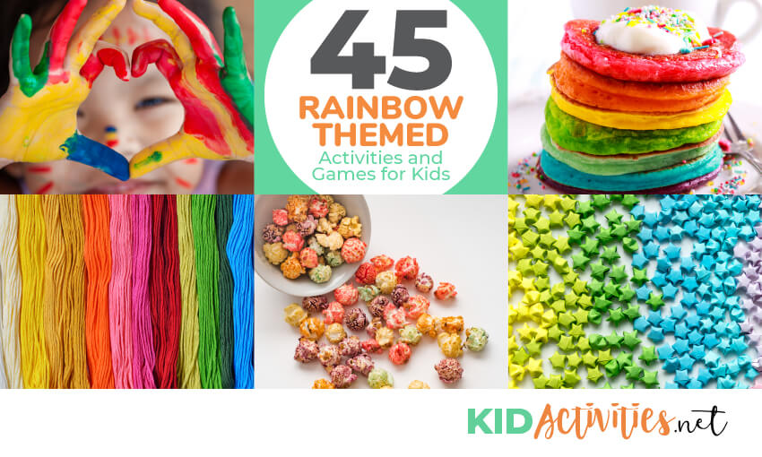 A collection of rainbow themed games and activities for kids.