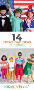 A collection of theme day ideas for school. Themes like wacky Wednesday, backwards day, friendship day, and much more. Fun activities and games included.