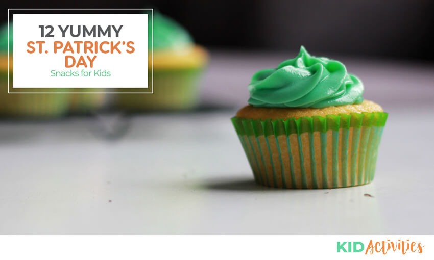 St Patrick's Day snacks for kids.