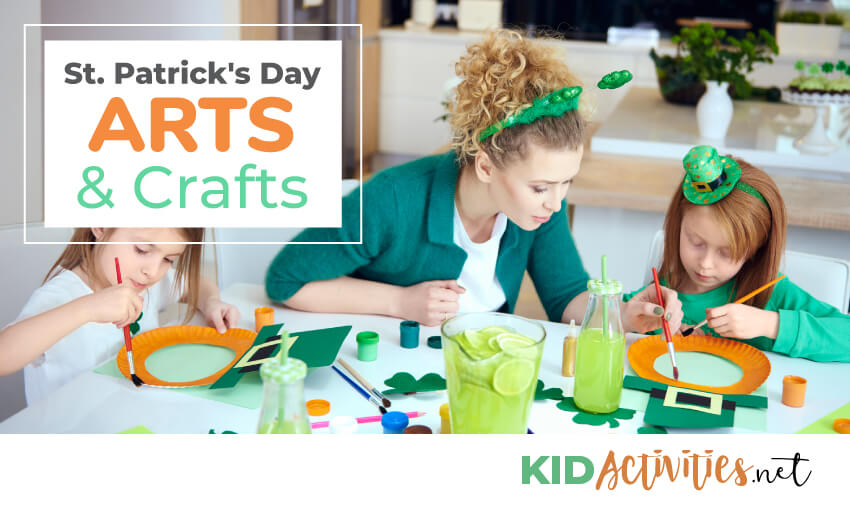 St. Patrick's day arts and crafts.
