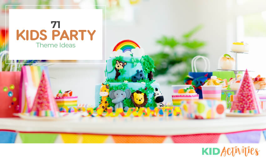 A collection of 71 birthday party theme ideas.