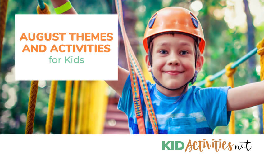 A collection of August themed activities for kids.