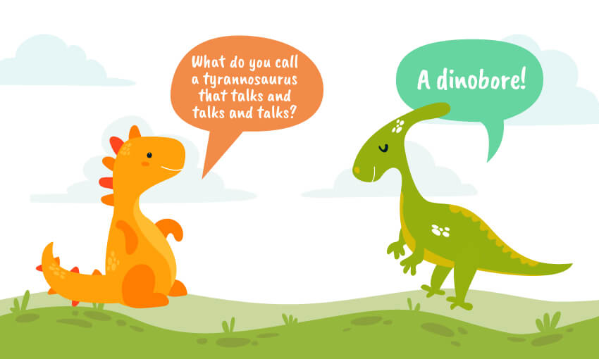 what do you get when a dinosaur talks and talks joke