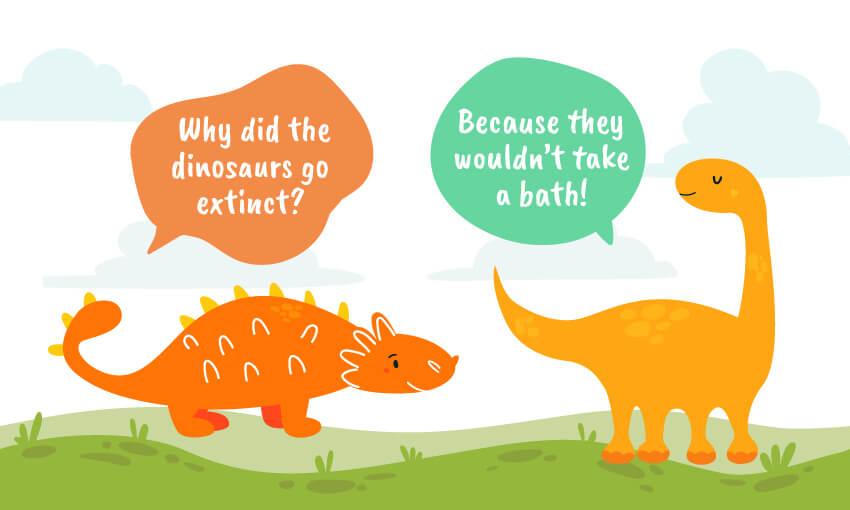 why did the dinosaurs go extinct joke