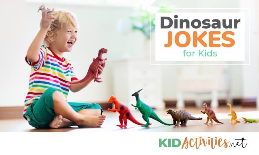 A collection of dinosaur jokes.