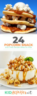 A collection of popcorn snacks and treats for kids. These snack <a href=