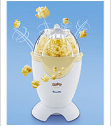 A picture of a popcorn make with some animation of popcorn shooting into the air. Making it appear to be a popcorn eruption.