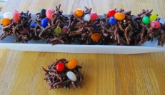 chocolate birds nest snack recipe