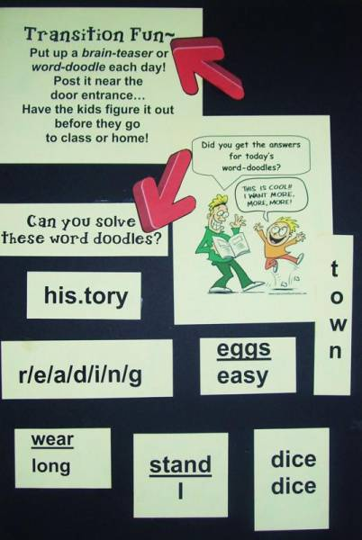 trick question and riddle board
