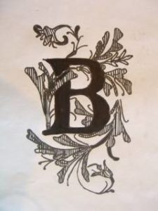 letter art using the letter B.