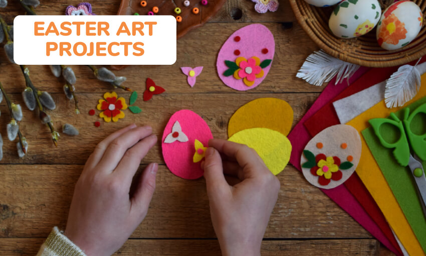 A collection of Easter art projects for kids.