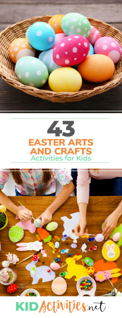 A collection of Easter arts and crafts activities for kids. These are great Easter ideas for the classroom or at home.
