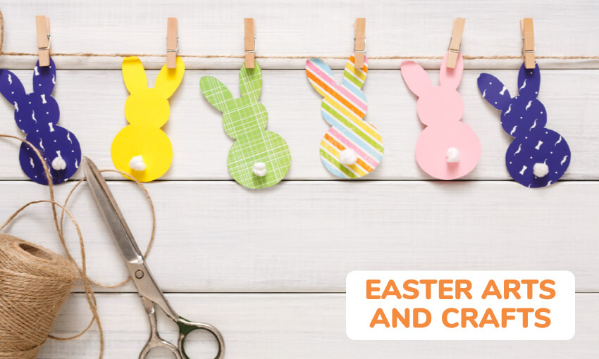 A collection of easter arts and crafts for kids.