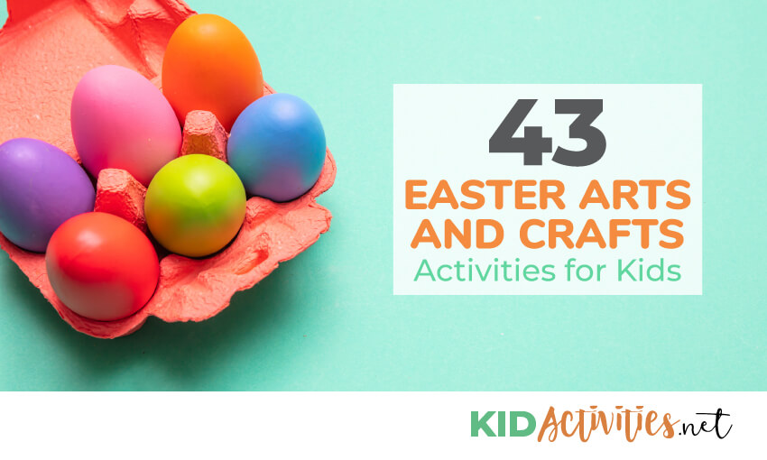 A collection of easter arts and crafts activities for kids.