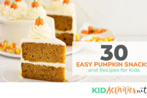 A collection of pumpkin snacks and recipes for kids. These are great for fall parties or Thanksgiving in the classroom.
